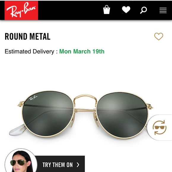 48% off Ray-Ban Accessories Authentic Rayban Round Metal Sunglasses ... 0990827e5005
